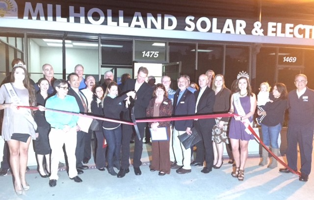 Milholland Solar & Electric Ribbon Cutting