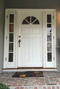 Front door painted to pop.