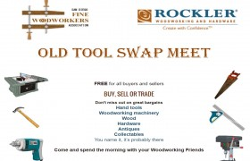 Old Tool Swap Meet August 7 at Rockler Woodworking & Hardware
