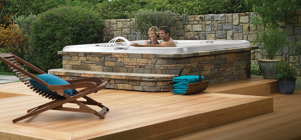San Diego Hot Spring Spas in a backyard