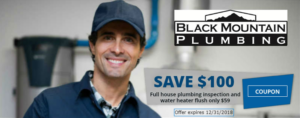 Black Mountain Plumbing Promotional Offer